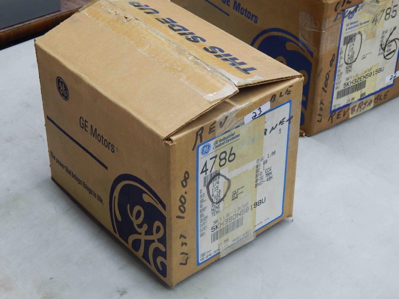#23 GE Oil Burner AC-Motor 4786 5KH39DN5019BU 1/4HP 115V 1725RPM 48N Fr  1-Ph NEW