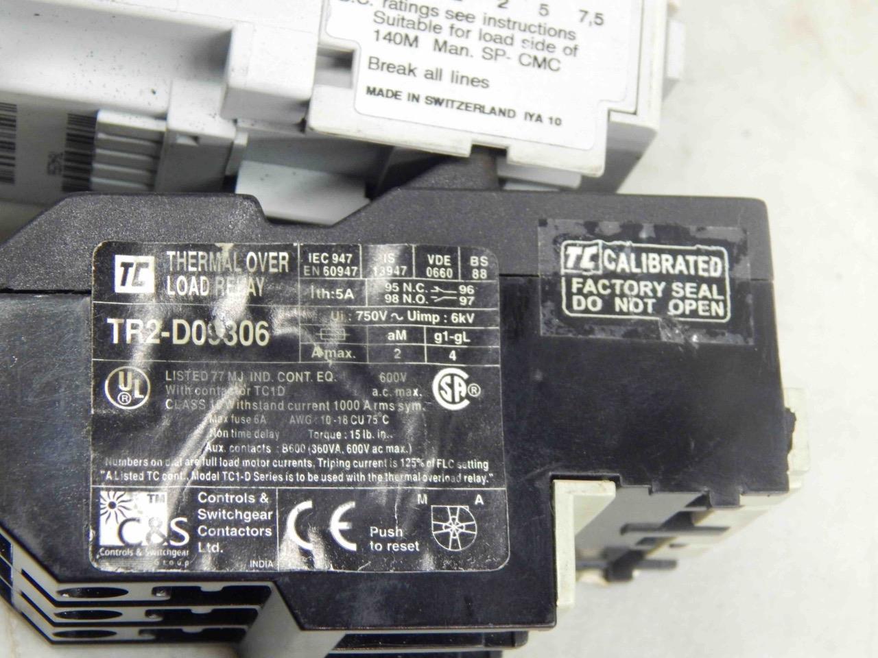 #536 Allen Bradley 100-C09*10 110/120V Coil Contactor + TR2-D09306 1-1,6A