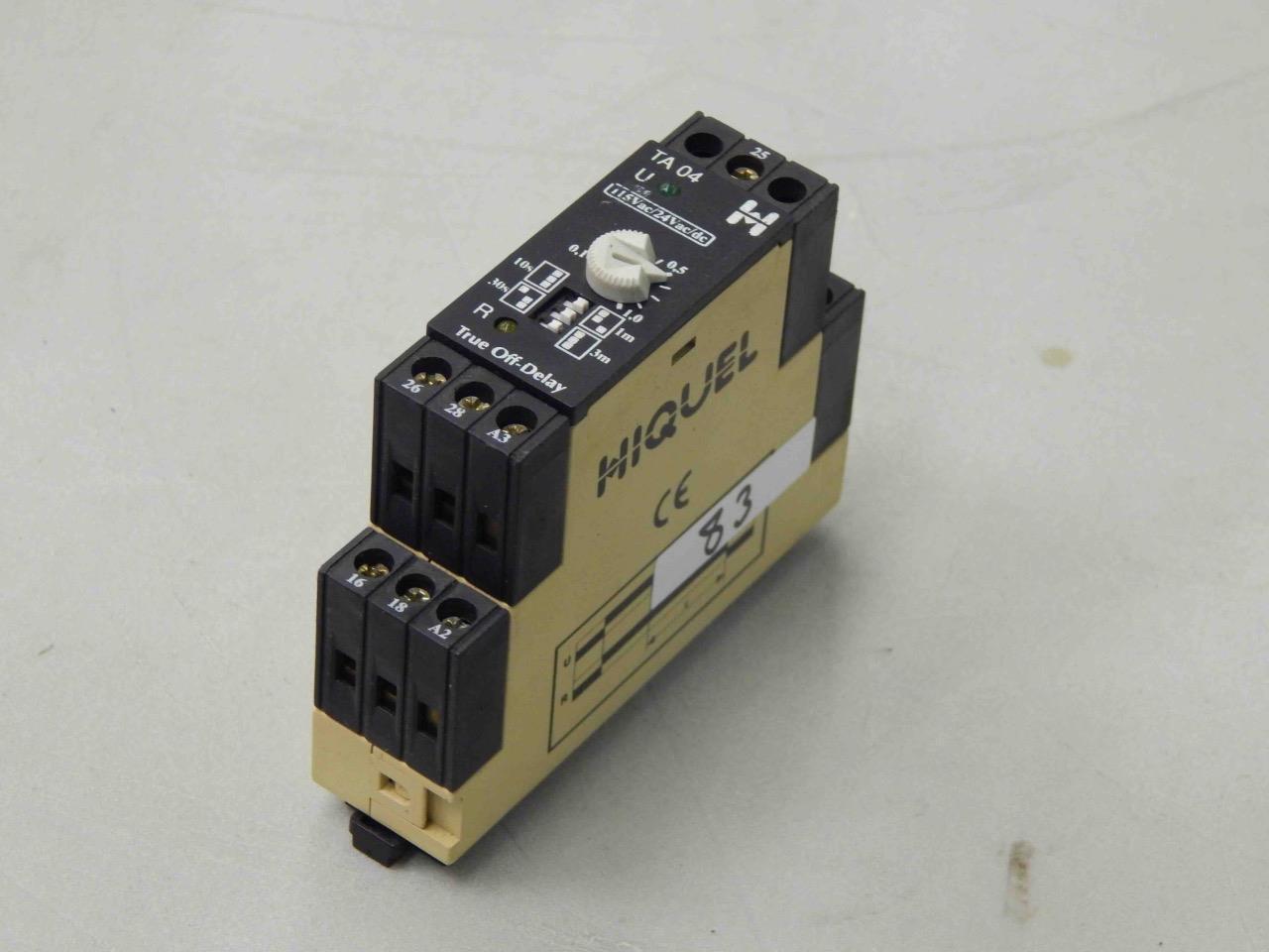 83 Hiquel Ta 04 U 115vac 24vac Dc 01 10 True Off Delay Timer Circuit Breaker Ebay Relay Mc Sales Llc