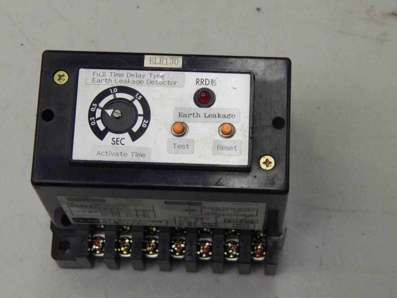#780 Fuji Electric RRD-6A Z3 Time Delay Type Earth Leakage Detector  2-2 Sec