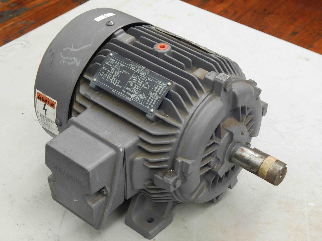 #8 Siemens Motor 1LA0182-2FP21 RGZP TEFC 3-HP 230/460V ...