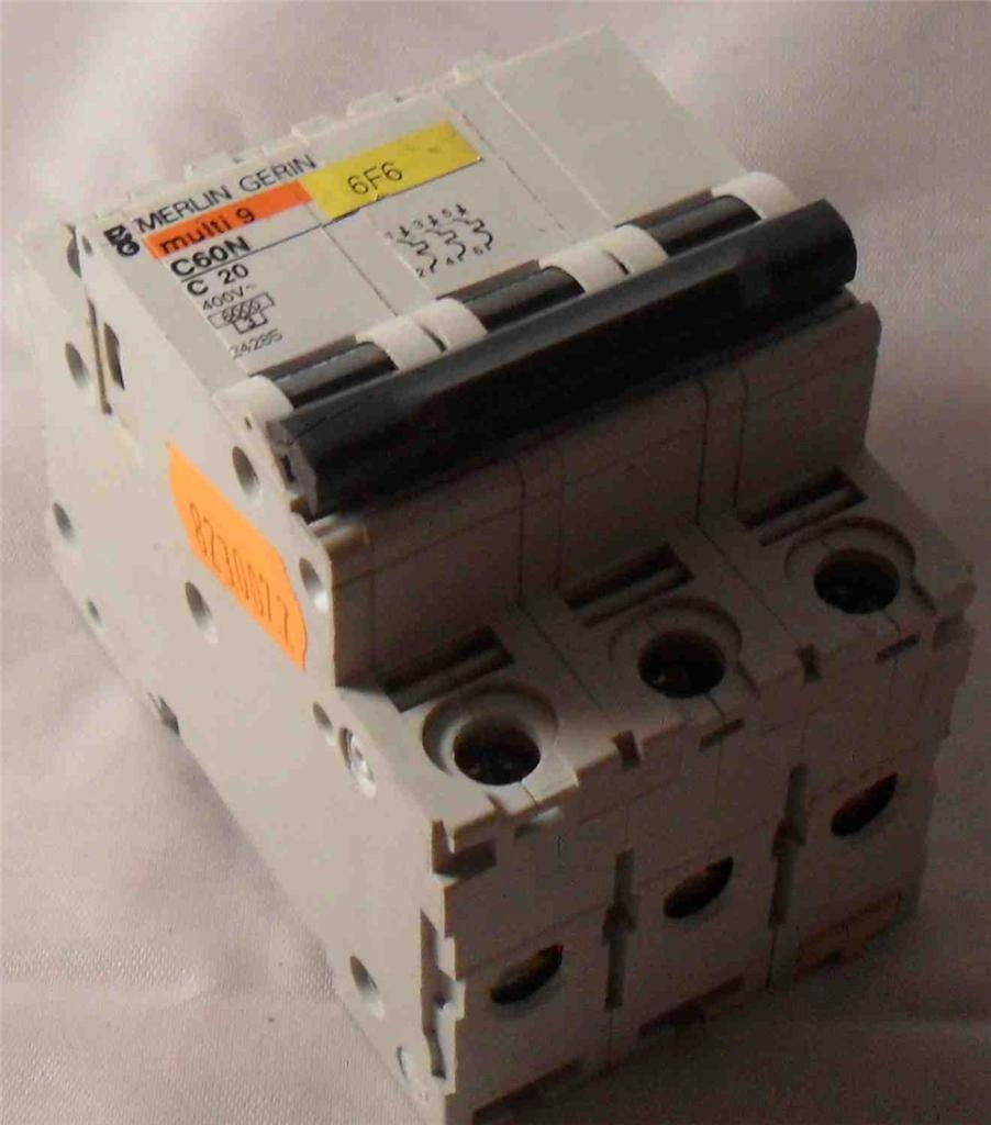 Merlin Gerin Mg 24285 3 Pole Miniature Circuit Breaker 400v Breakers Images Photos C60n C20 Mc Sales Llc