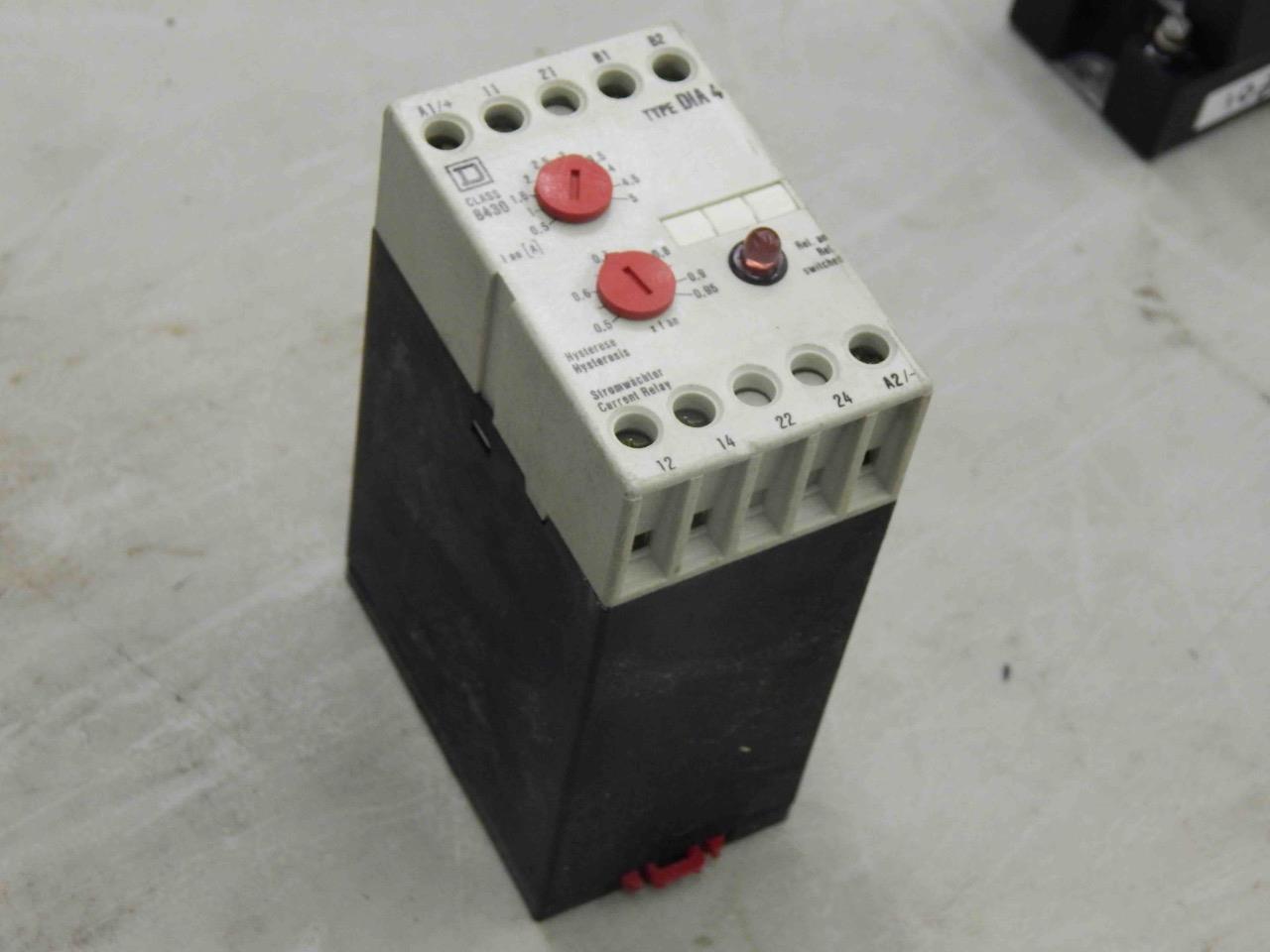 1020 Square D 8430-DIA4 Stromwaechter Current Control Relay 0.5-5A ...