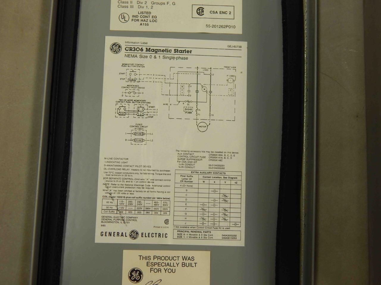 Cr306 Magnetic Starter Wiring Diagram General Start Virtual 960