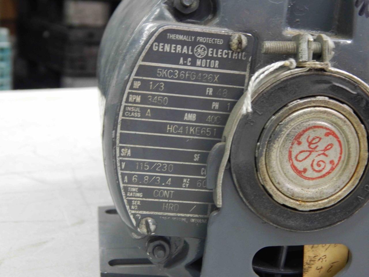 Ge Ac Motor Catalog Induction Wiring Diagram 5 General Electric Hc41ke651 1 3hp Fr 48 3450 Rpm 115
