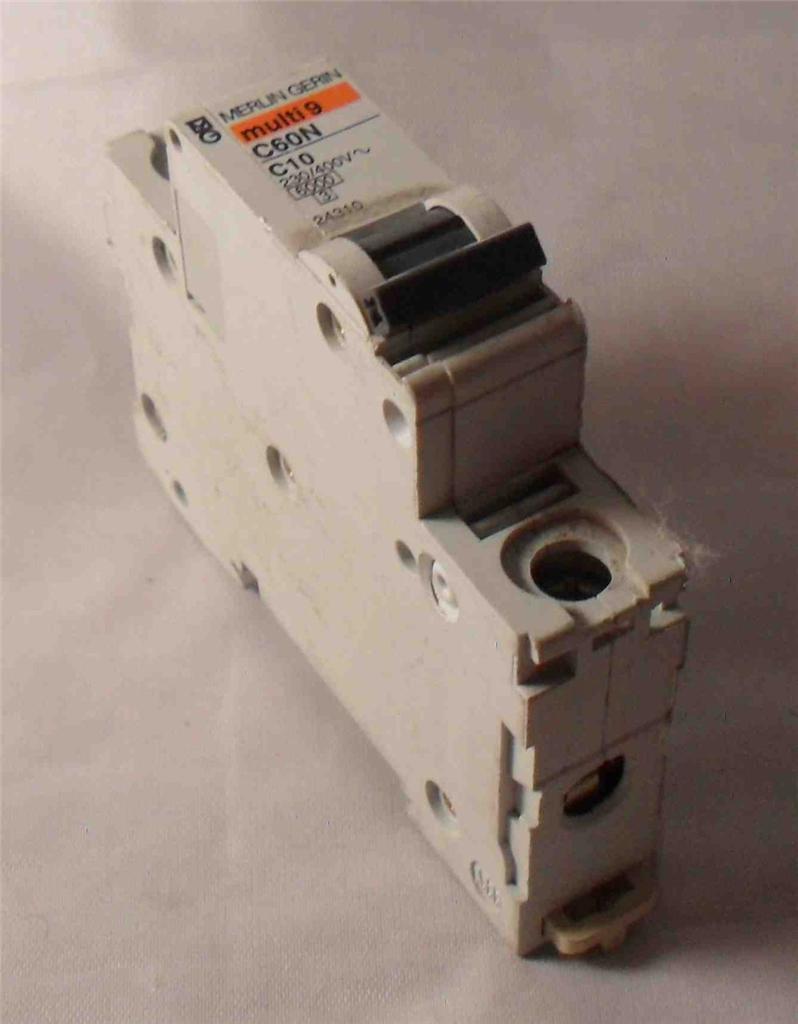 Merlin Gerin Mg 24310 1 Pole Miniature Circuit Breaker 230 Labels Ebay 400v C60n C10 Mc Sales Llc