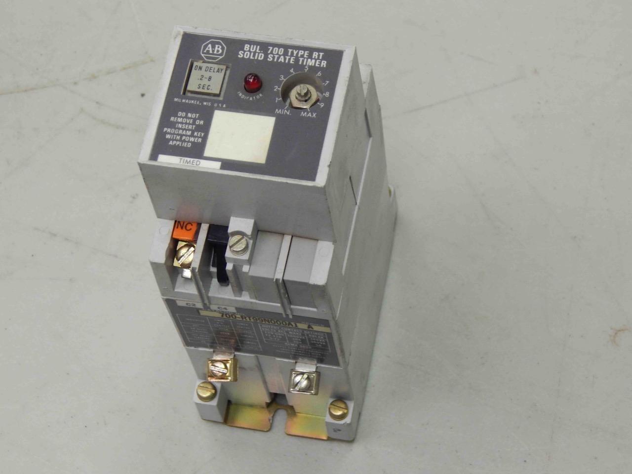 797 Allen Bradley 700 Rt99n000a1 Ser A Solid State Timer Bul Circuit Breaker Ebay Type Rt Mc Sales Llc