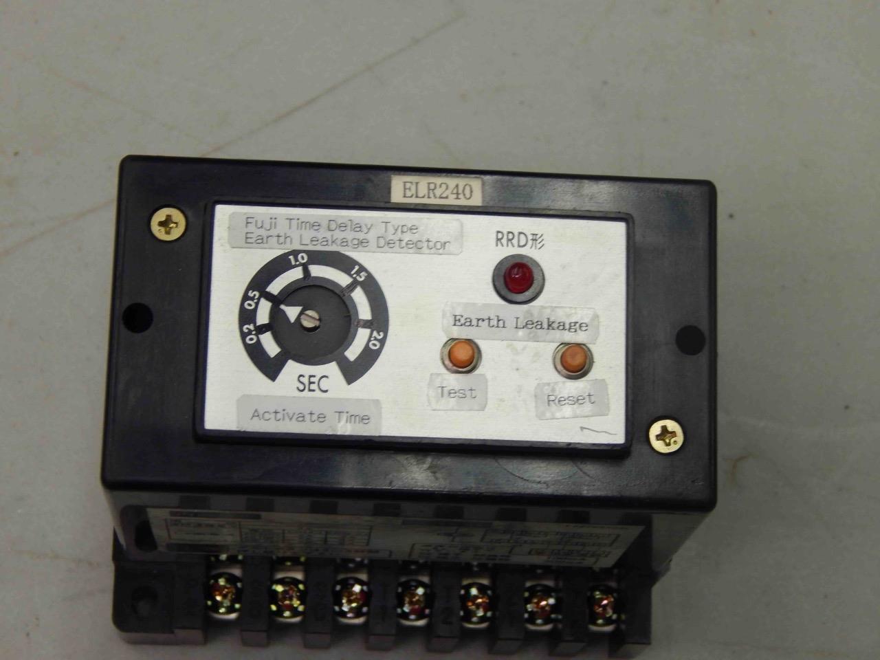 #781 Fuji Electric RRD-60-P0 Time Delay Type Earth Leakage Detector  2-2 Sec