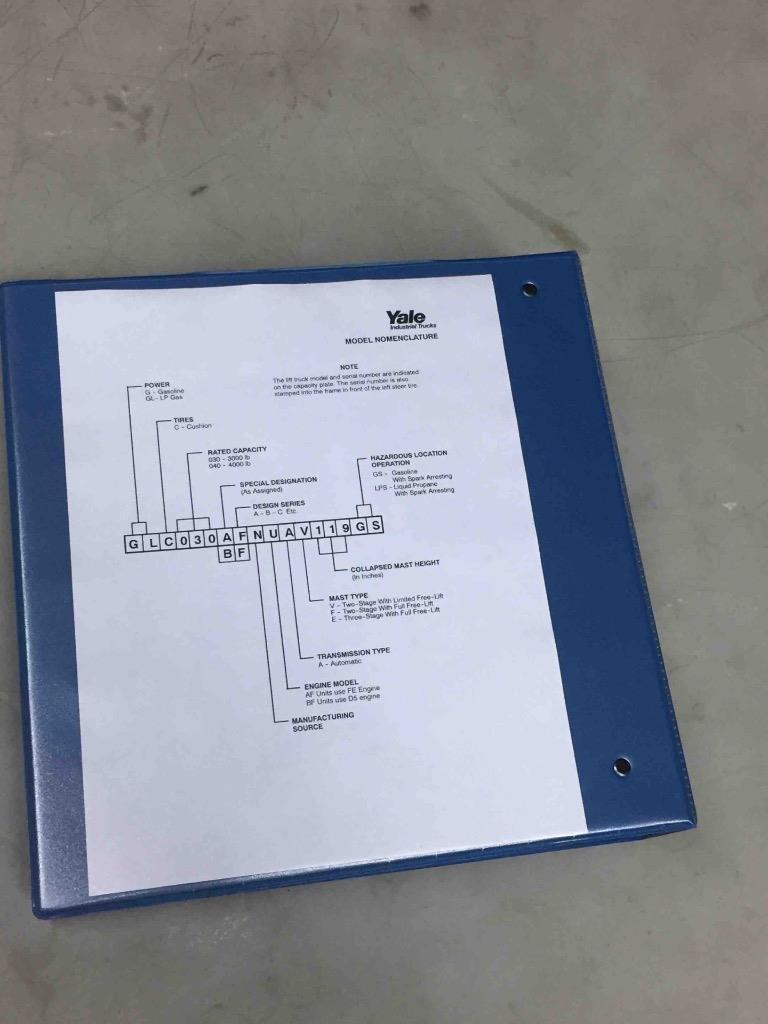 Yale Operating Manual Gc030 Wiring Diagram Array Gc Glc 030bf 030 040 Af Lift Service Maintenance Rh Mc